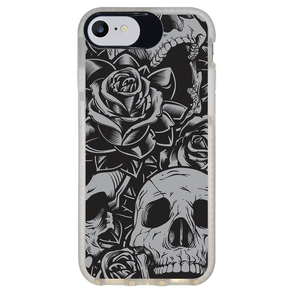 Capa Personalizada Intelimix Intelishock Branca Apple iPhone 7 - Caveira - CV01