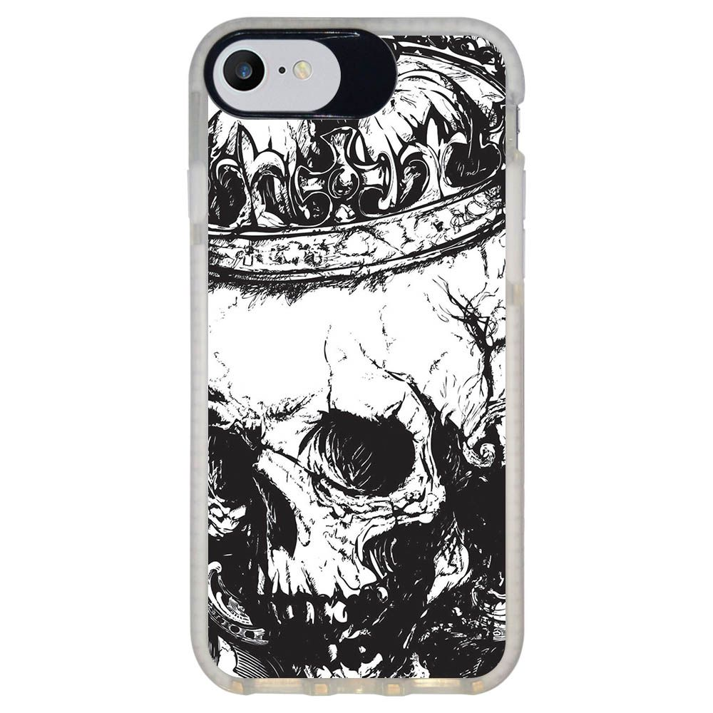 Capa Personalizada Intelimix Intelishock Branca Apple iPhone 7 - Caveira - CV13
