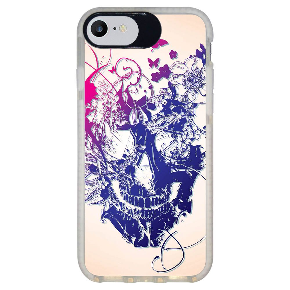Capa Personalizada Intelimix Intelishock Branca Apple iPhone 7 - Caveira - CV31