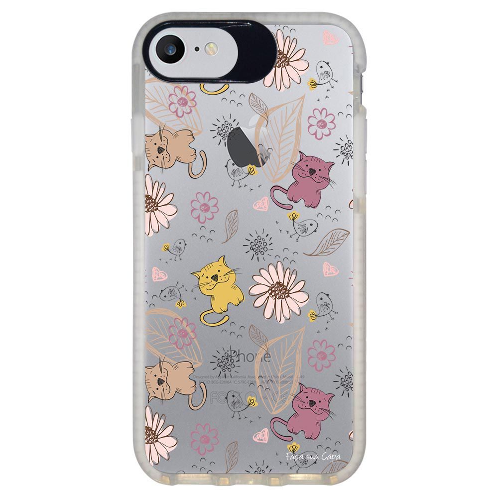 Capa Personalizada Intelimix Intelishock Branca Apple iPhone 7 - Cute - TP11