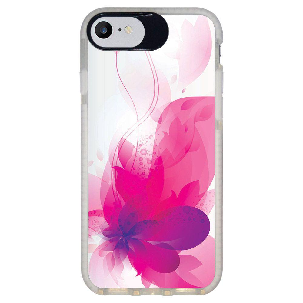 Capa Personalizada Intelimix Intelishock Branca Apple iPhone 7 - Florais - FL19
