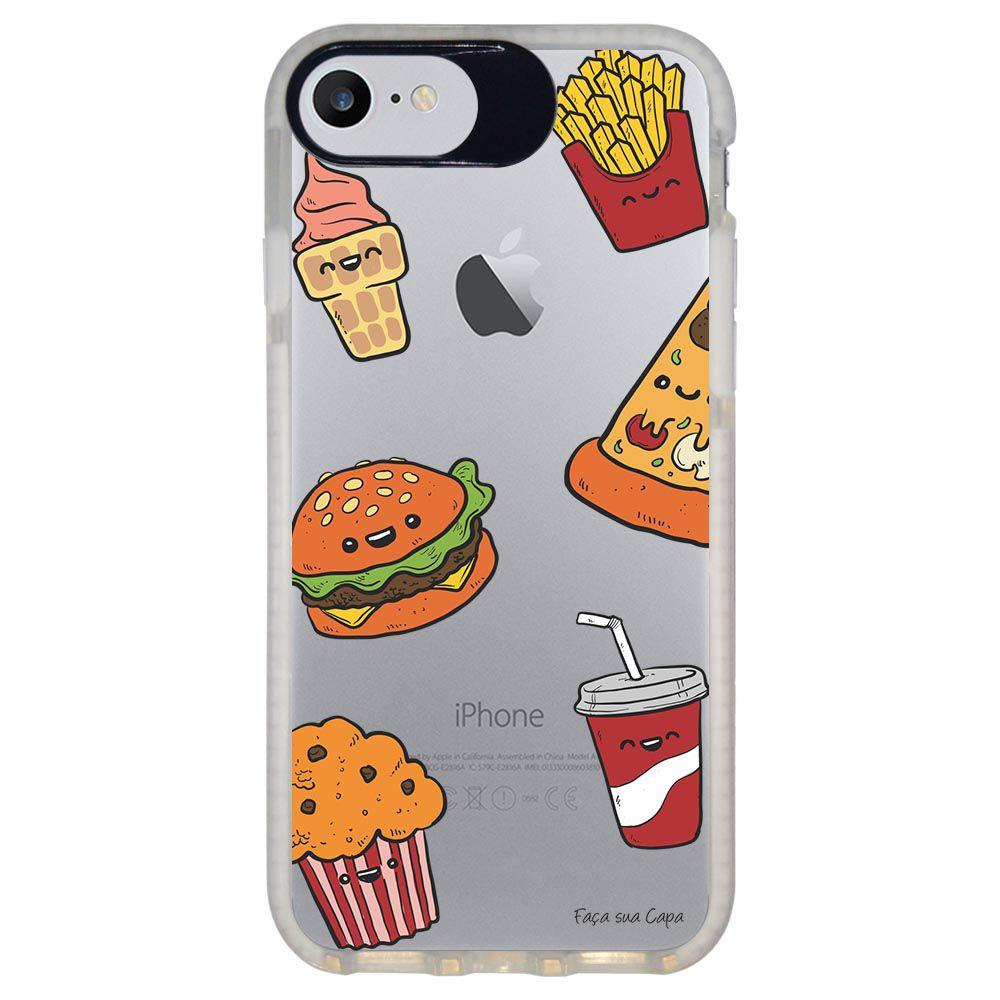 Capa Personalizada Intelimix Intelishock Branca Apple iPhone 7 - Food - TP106