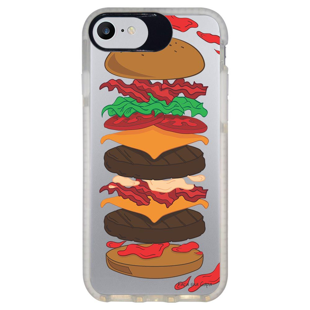 Capa Personalizada Intelimix Intelishock Branca Apple iPhone 7 - Food - TP107