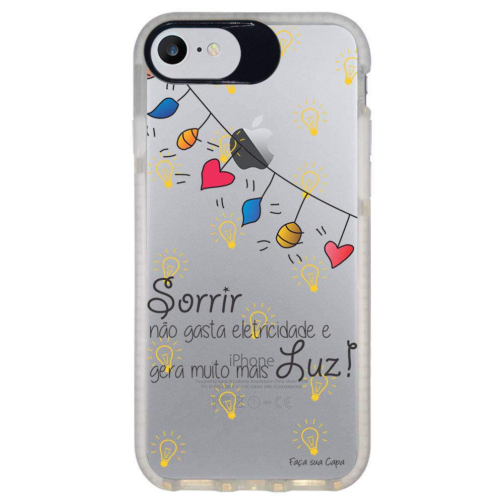 Capa Personalizada Intelimix Intelishock Branca Apple iPhone 7 - Frases - TP115