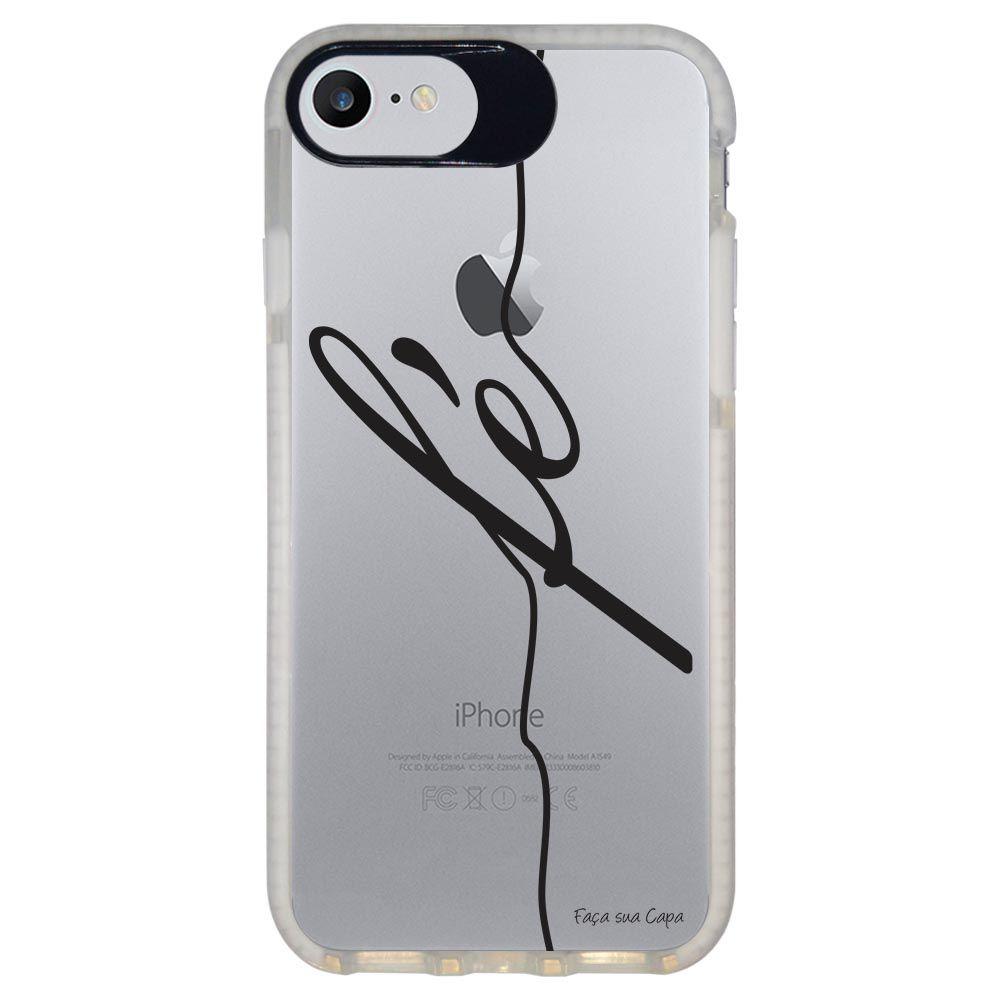Capa Personalizada Intelimix Intelishock Branca Apple iPhone 7 - Frases - TP45