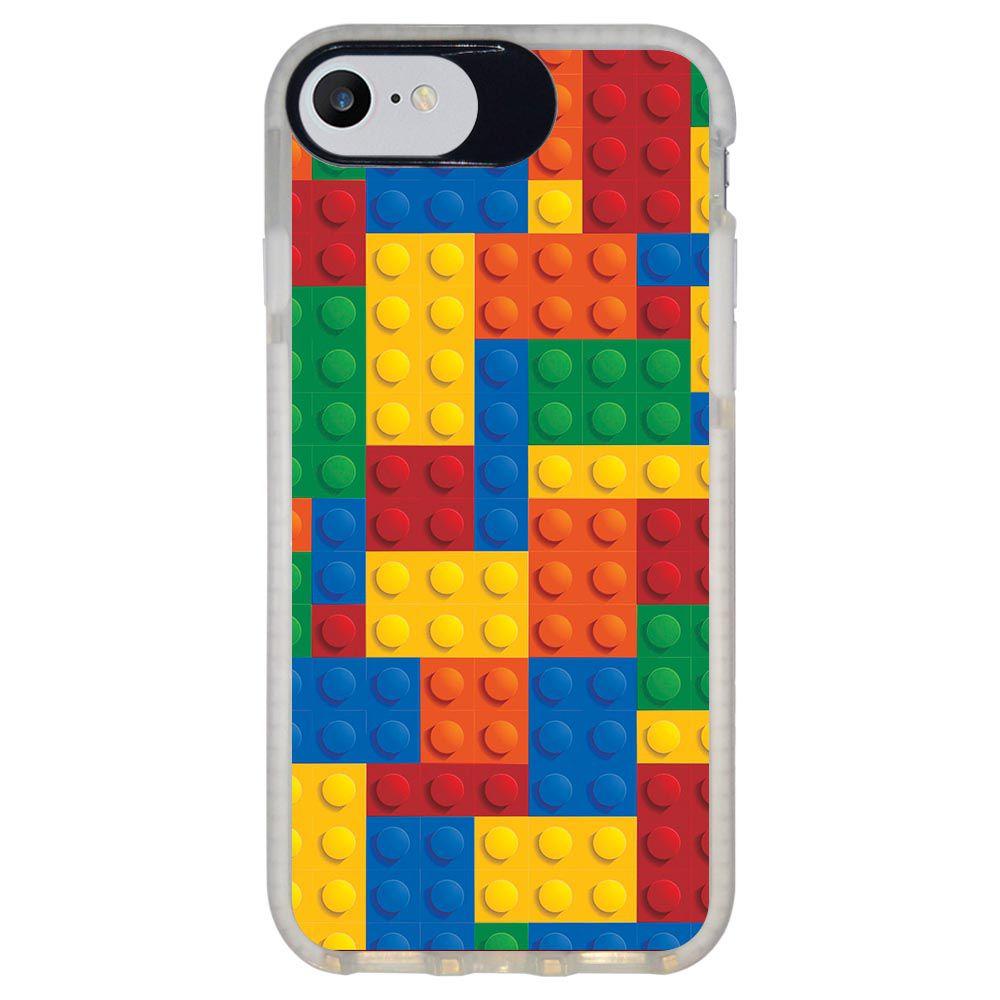 Capa Personalizada Intelimix Intelishock Branca Apple iPhone 7 - Lego - TX08