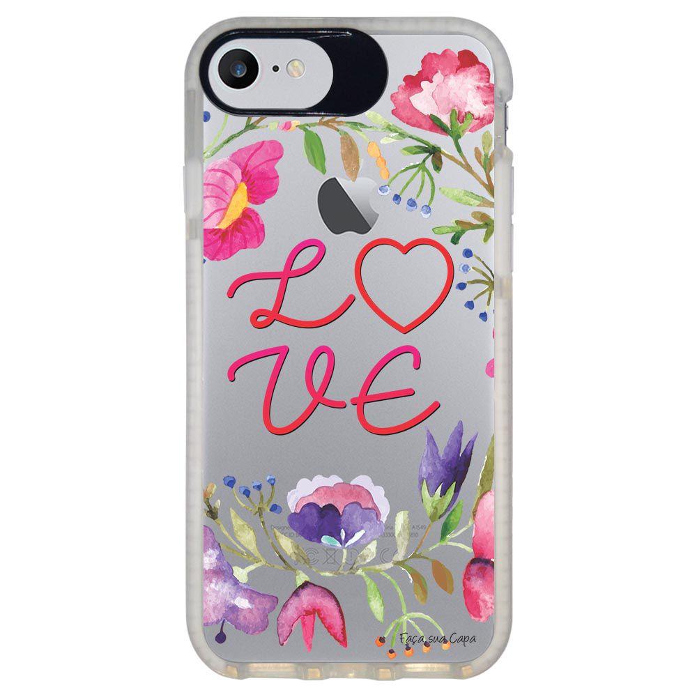 Capa Personalizada Intelimix Intelishock Branca Apple iPhone 7 - Love - TP156