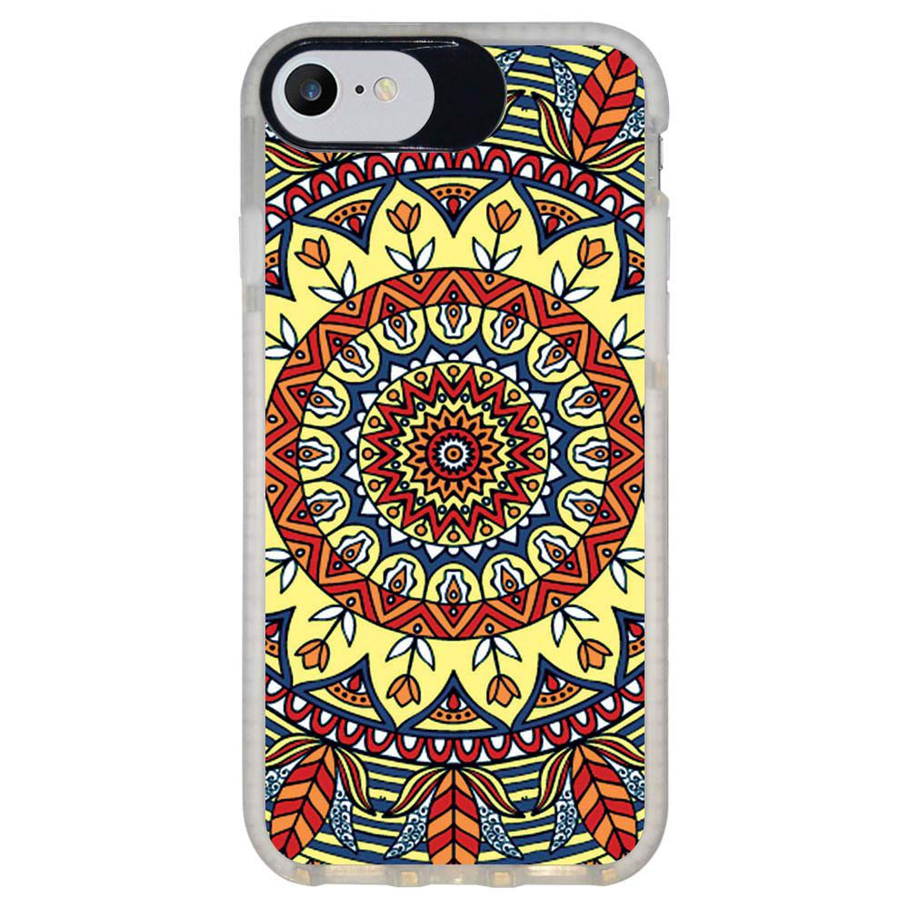 Capa Personalizada Intelimix Intelishock Branca Apple iPhone 7 - Mandala - AT79