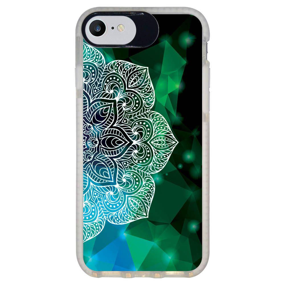 Capa Personalizada Intelimix Intelishock Branca Apple iPhone 7 - Mandala - AT81