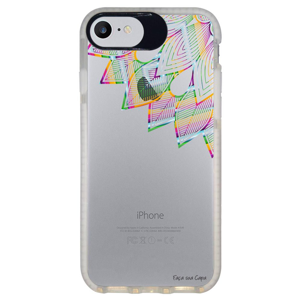 Capa Personalizada Intelimix Intelishock Branca Apple iPhone 7 - Mandala - TP250