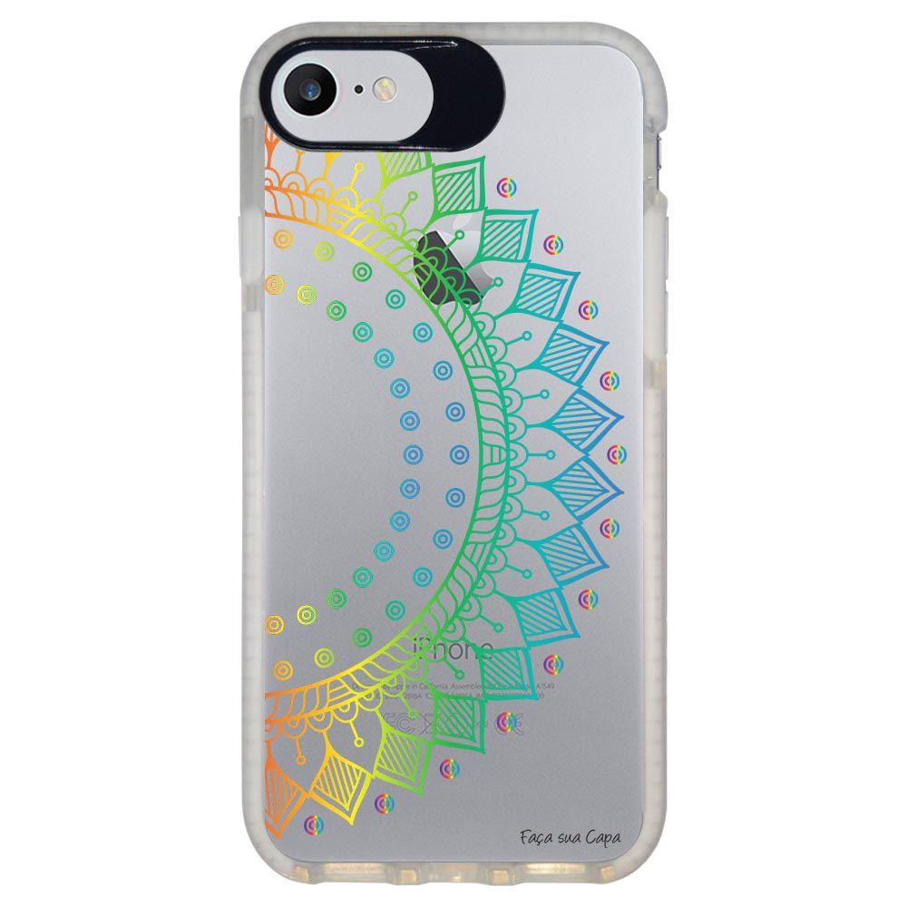 Capa Personalizada Intelimix Intelishock Branca Apple iPhone 7 - Mandala - TP252