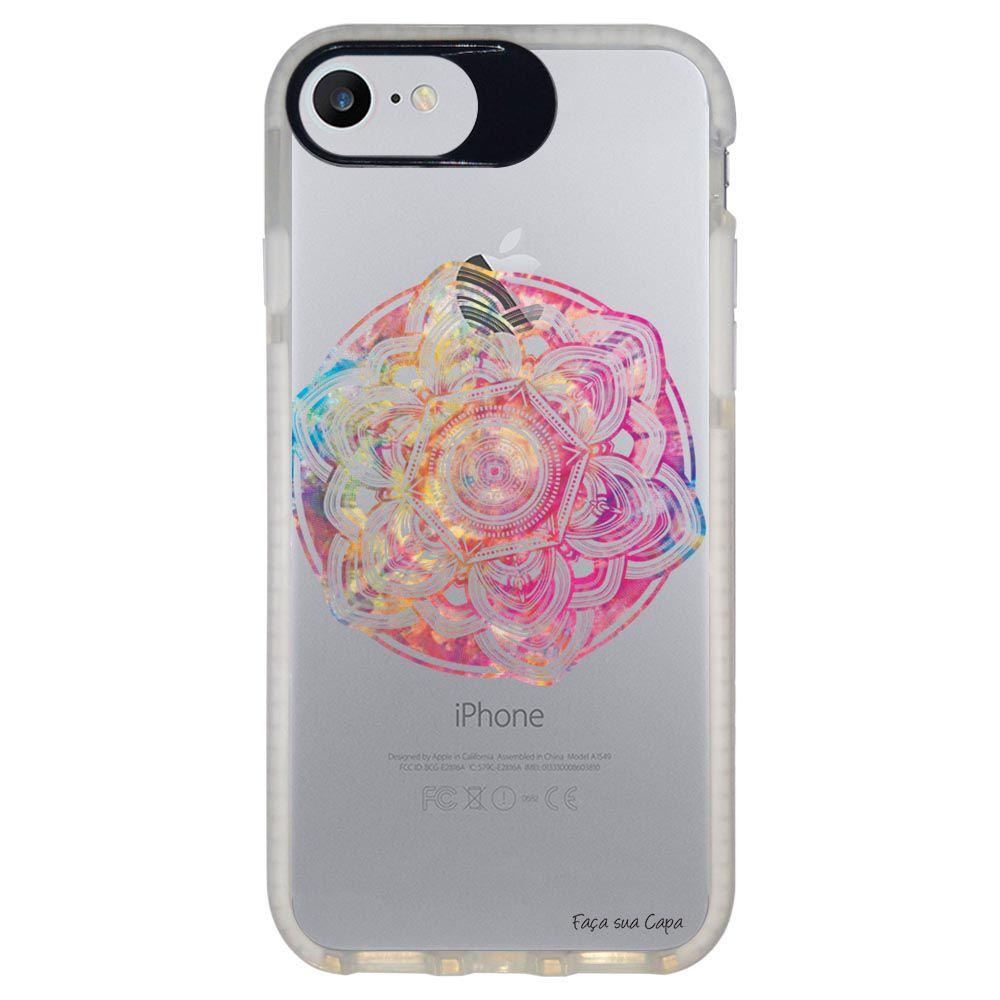 Capa Personalizada Intelimix Intelishock Branca Apple iPhone 7 - Mandala - TP256