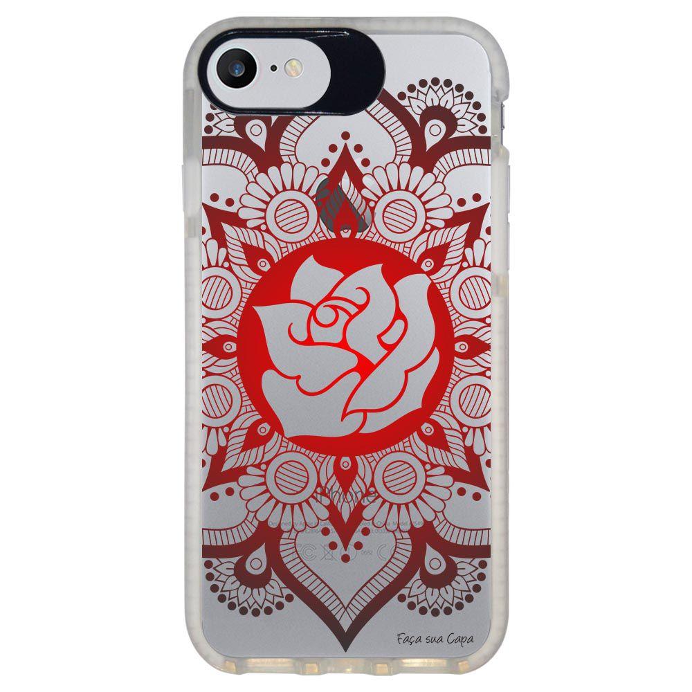 Capa Personalizada Intelimix Intelishock Branca Apple iPhone 7 - Mandala - TP258