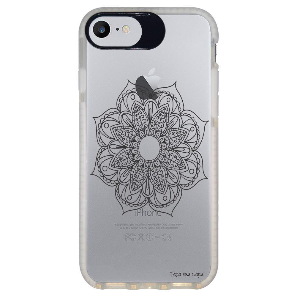 Capa Personalizada Intelimix Intelishock Branca Apple iPhone 7 - Mandala - TP260