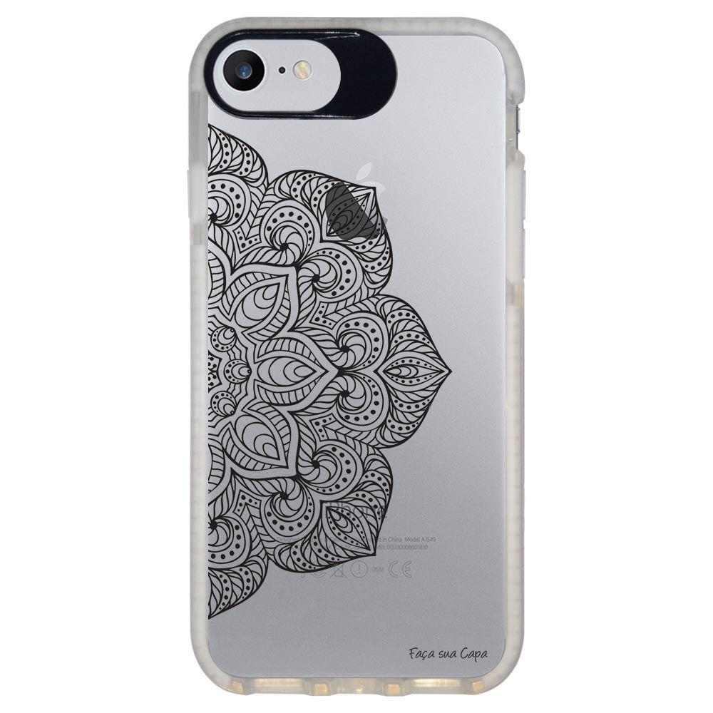 Capa Personalizada Intelimix Intelishock Branca Apple iPhone 7 - Mandala - TP32