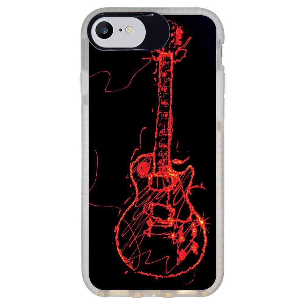 Capa Personalizada Intelimix Intelishock Branca Apple iPhone 7 - Música - MU11