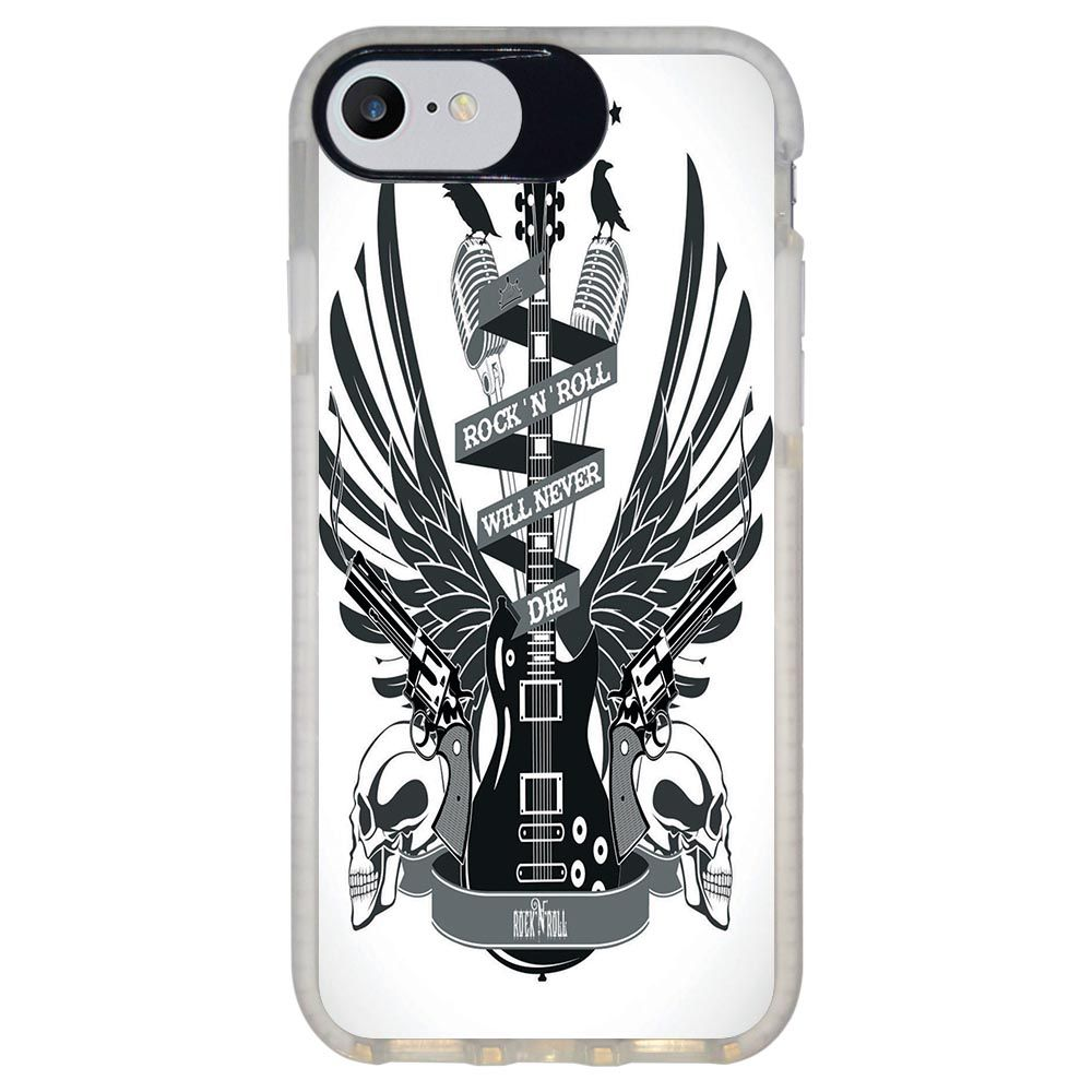 Capa Personalizada Intelimix Intelishock Branca Apple iPhone 7 - Música - MU29