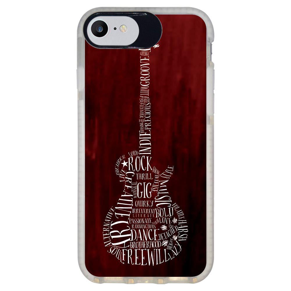 Capa Personalizada Intelimix Intelishock Branca Apple iPhone 7 - Música - MU36