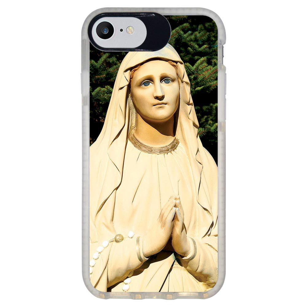Capa Personalizada Intelimix Intelishock Branca Apple iPhone 7 - Religião - RE07