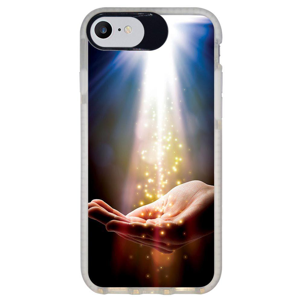 Capa Personalizada Intelimix Intelishock Branca Apple iPhone 7 - Religião - RE09