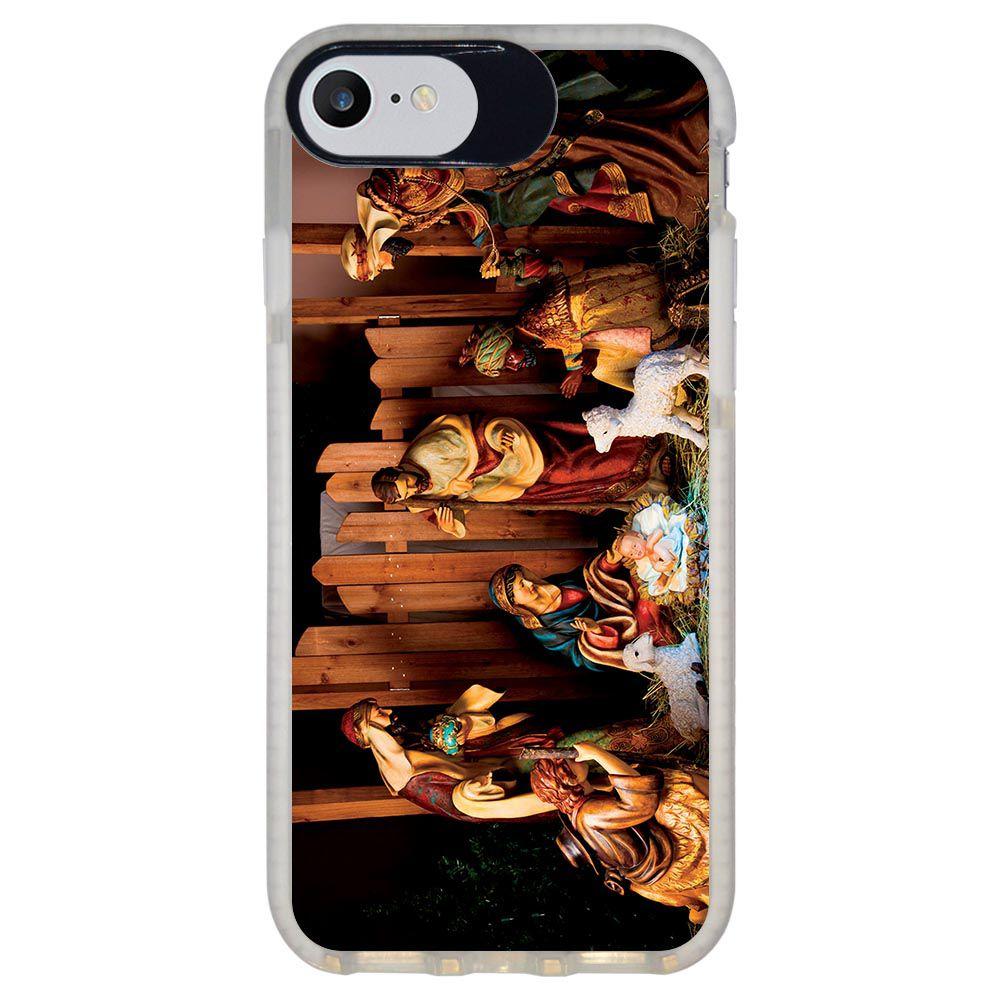 Capa Personalizada Intelimix Intelishock Branca Apple iPhone 7 - Religião - RE10