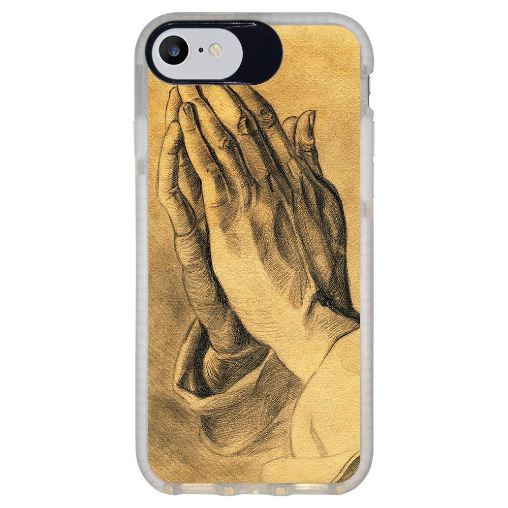 Capa Personalizada Intelimix Intelishock Branca Apple iPhone 7 - Religião - RE16