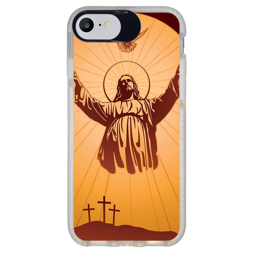 Capa Personalizada Intelimix Intelishock Branca Apple iPhone 7 - Religião - RE18