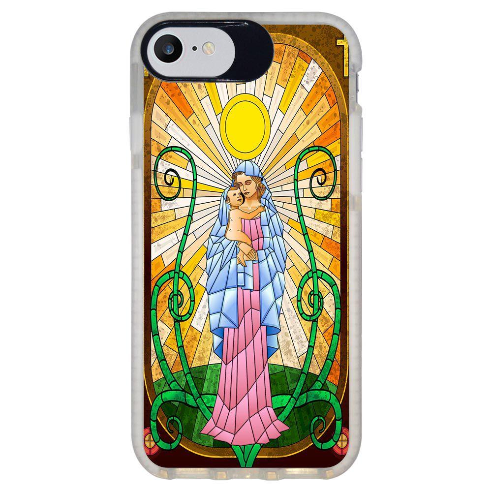 Capa Personalizada Intelimix Intelishock Branca Apple iPhone 7 - Religião - RE19