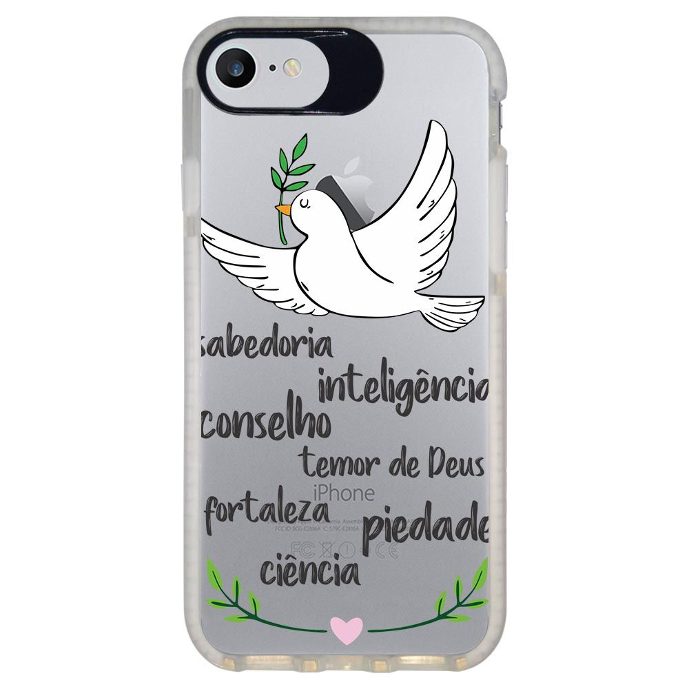 Capa Personalizada Intelimix Intelishock Branca Apple iPhone 7 - Religião - TP346