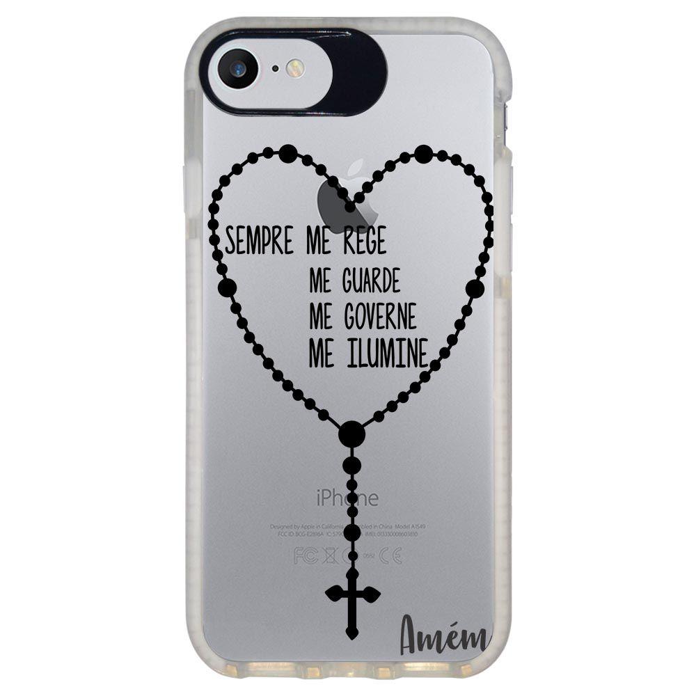 Capa Personalizada Intelimix Intelishock Branca Apple iPhone 7 - Religião - TP347