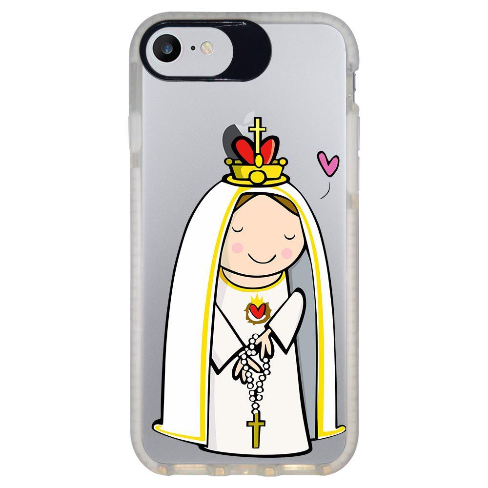 Capa Personalizada Intelimix Intelishock Branca Apple iPhone 7 - Religião - TP353