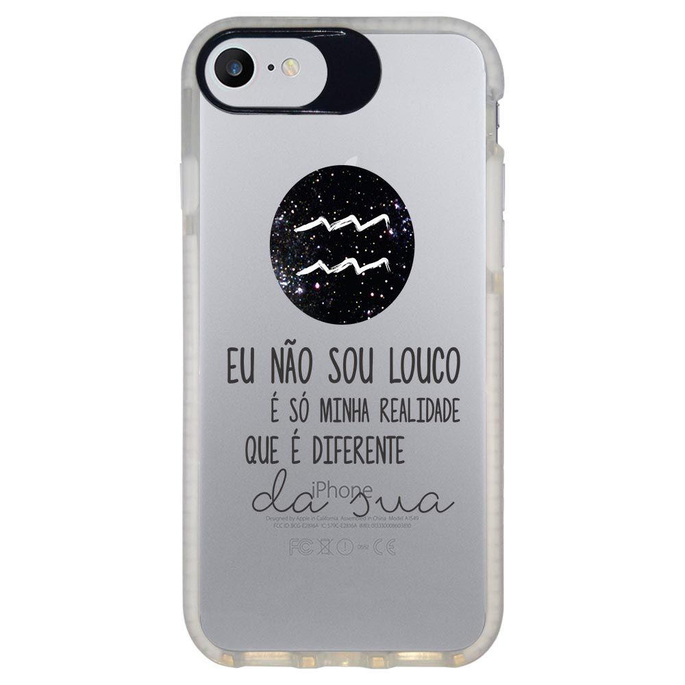 Capa Personalizada Intelimix Intelishock Branca Apple iPhone 7 - Signos - SN23