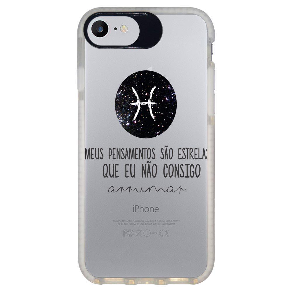 Capa Personalizada Intelimix Intelishock Branca Apple iPhone 7 - Signos - SN24