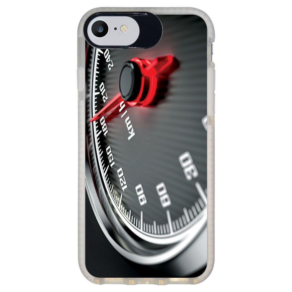 Capa Personalizada Intelimix Intelishock Branca Apple iPhone 7 - Velocímetro - VL06