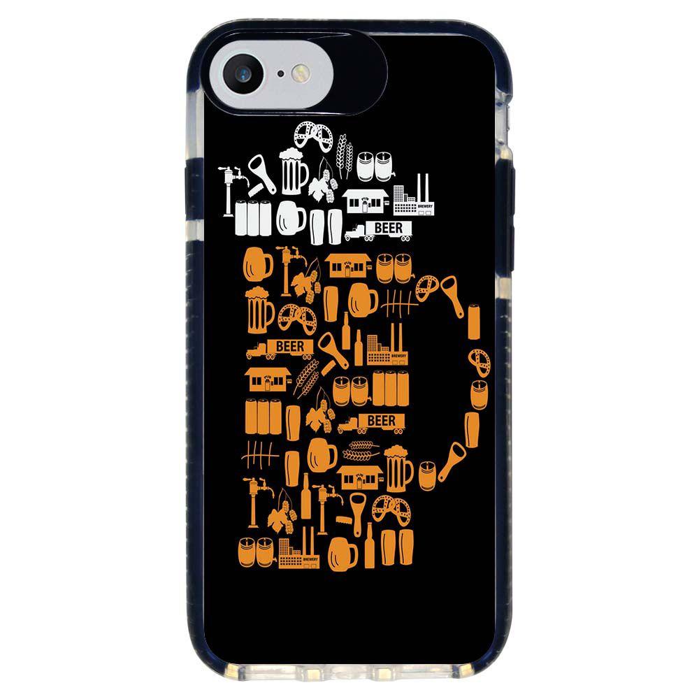 Capa Personalizada Intelimix Intelishock Preta Apple iPhone 7 - Beer - AT77