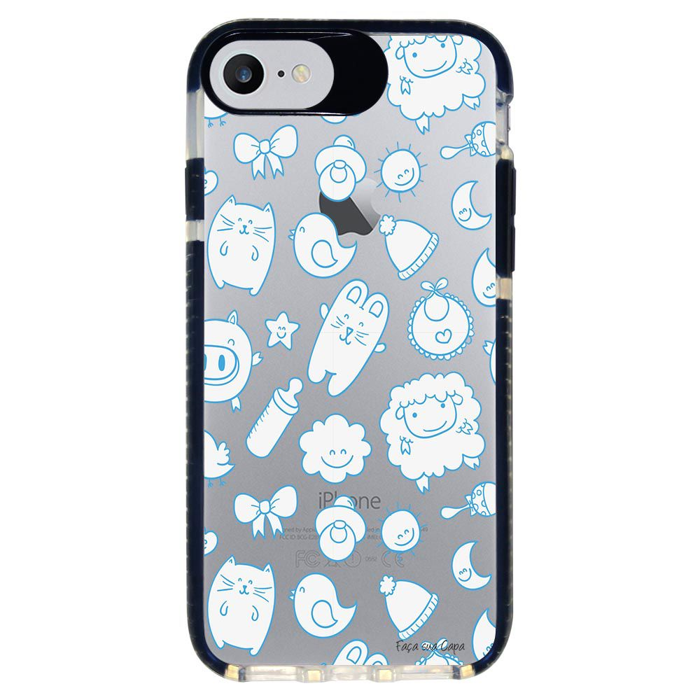 Capa Personalizada Intelimix Intelishock Preta Apple iPhone 7 - Cute - TP12