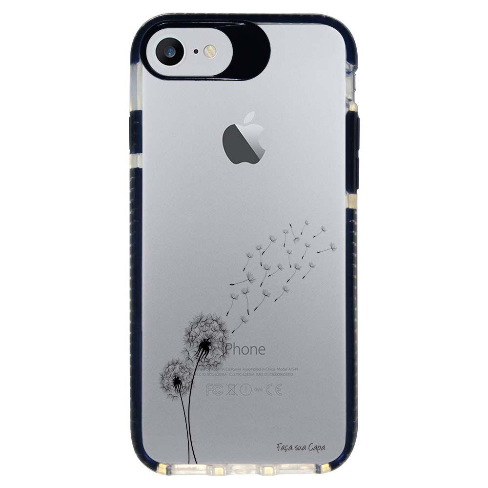 Capa Personalizada Intelimix Intelishock Preta Apple iPhone 7 - Dente de Leão - TP246