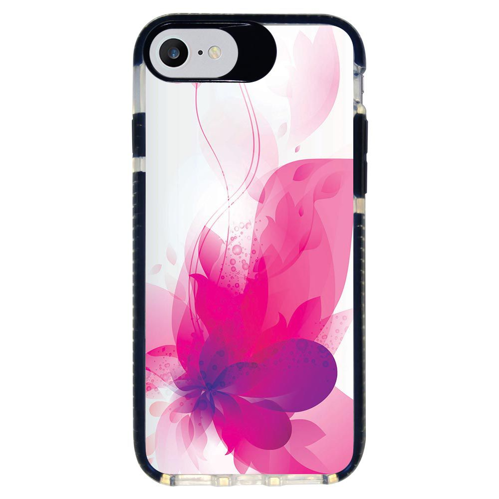 Capa Personalizada Intelimix Intelishock Preta Apple iPhone 7 - Florais - FL19