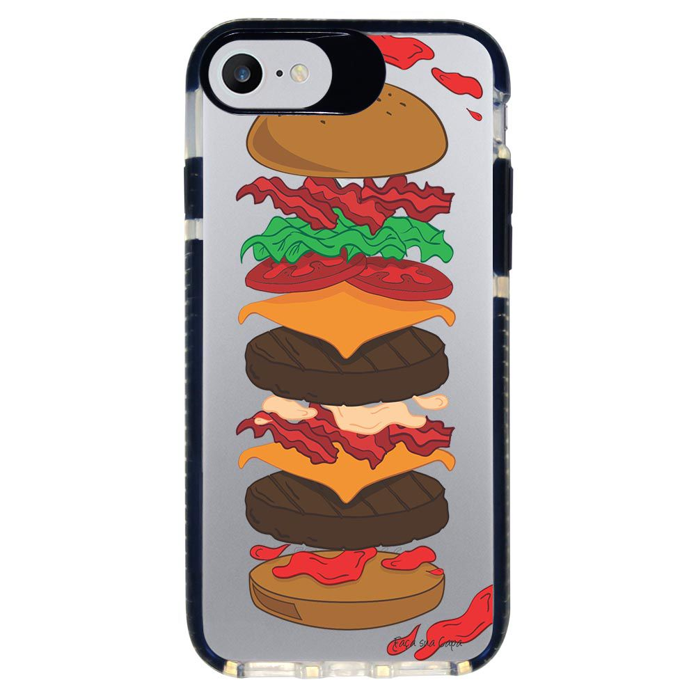 Capa Personalizada Intelimix Intelishock Preta Apple iPhone 7 - Food - TP107