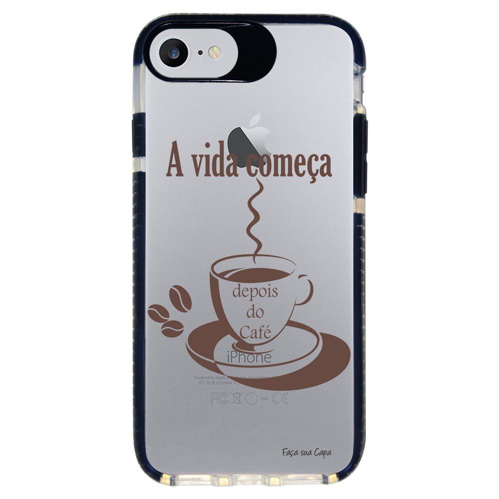 Capa Personalizada Intelimix Intelishock Preta Apple iPhone 7 - Frases - TP01