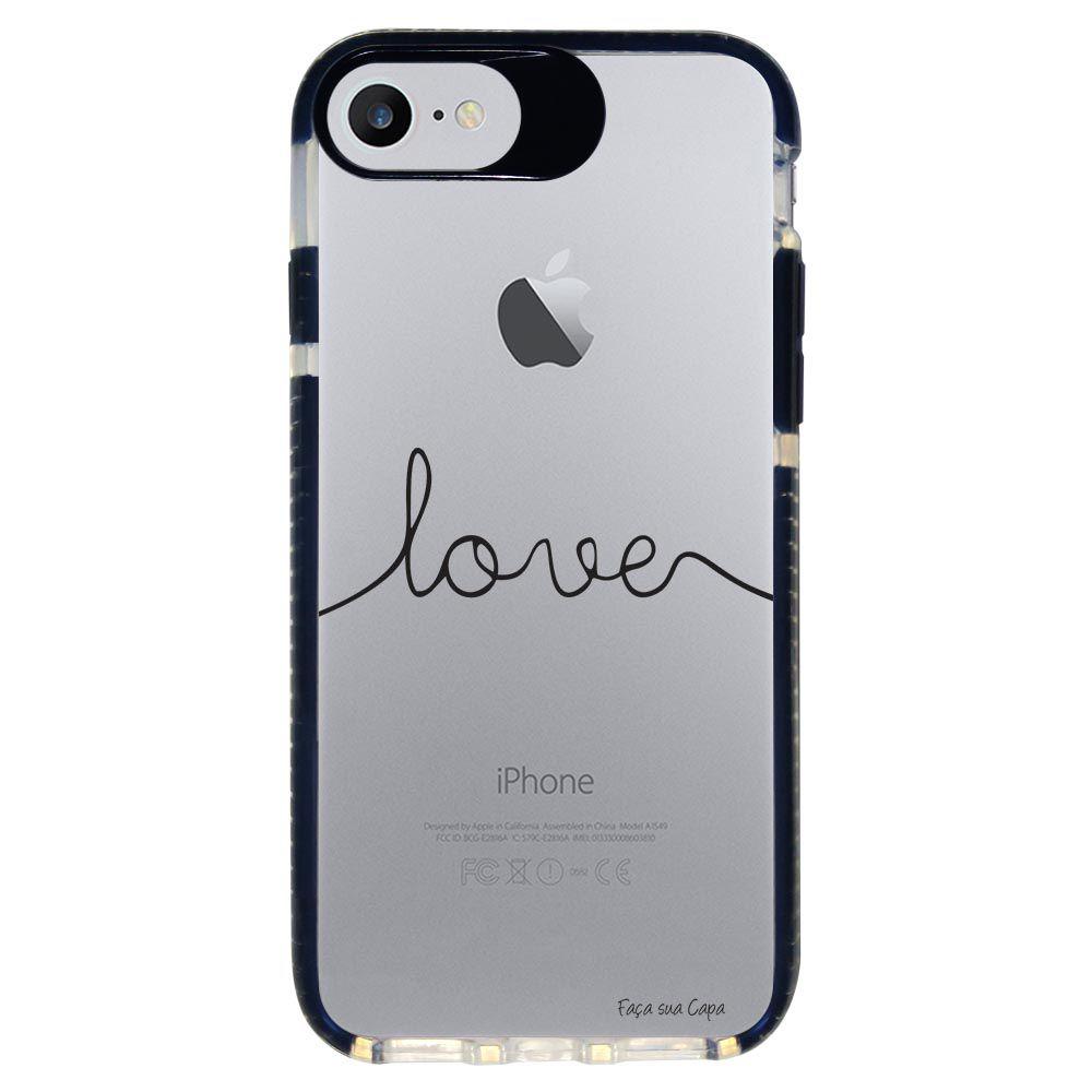 Capa Personalizada Intelimix Intelishock Preta Apple iPhone 7 - Frases - TP151