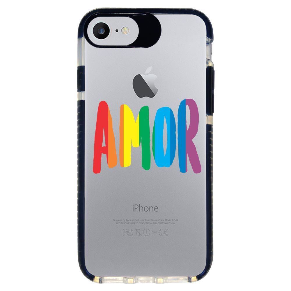 Capa Personalizada Intelimix Intelishock Preta Apple iPhone 7 - LGBT - LB01