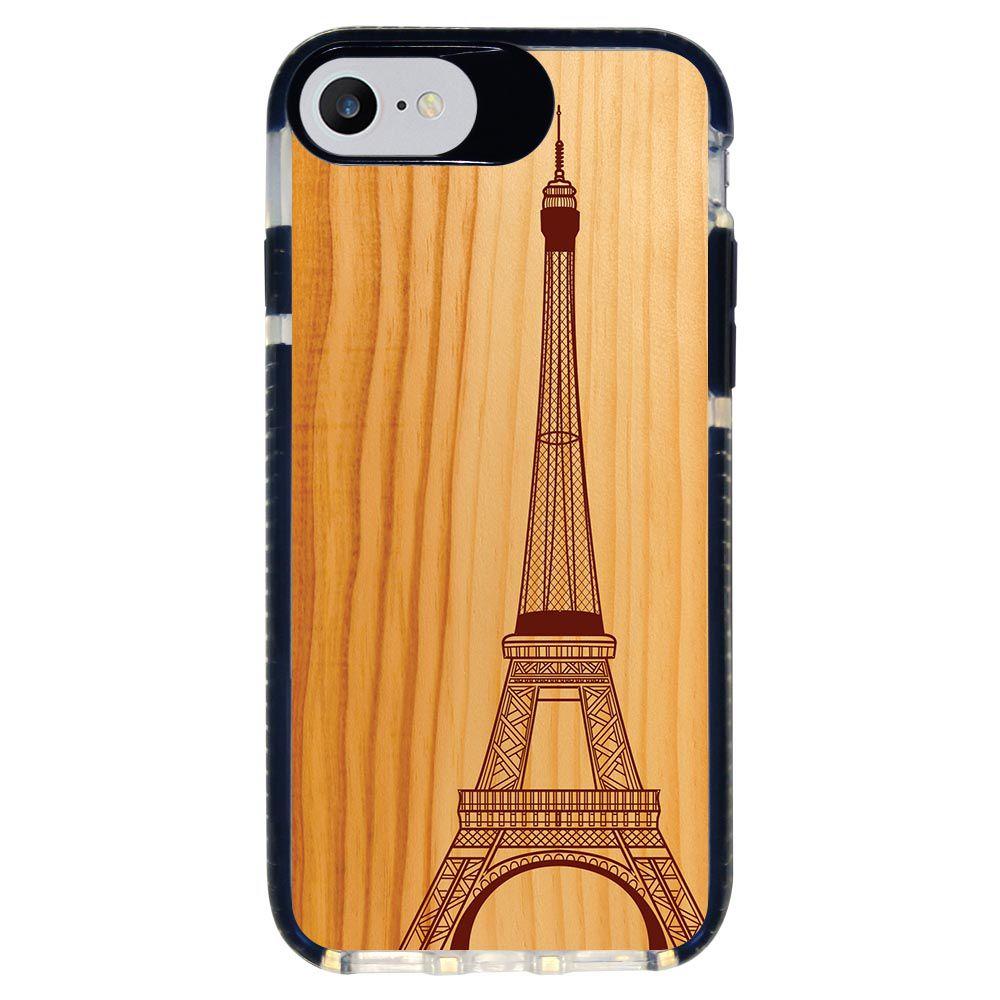 Capa Personalizada Intelimix Intelishock Preta Apple iPhone 7 - Paris - CD34