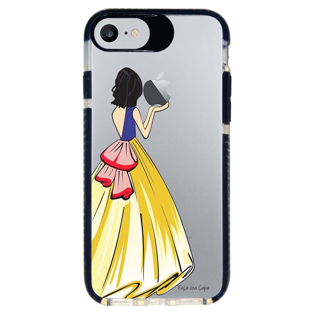 Capa Personalizada Intelimix Intelishock Preta Apple iPhone 7 - Princesa Branca de Neve - TP203