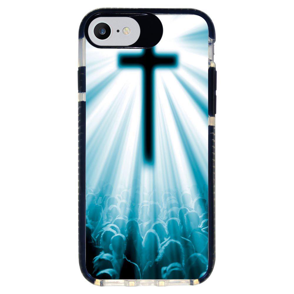 Capa Personalizada Intelimix Intelishock Preta Apple iPhone 7 - Religião - RE11