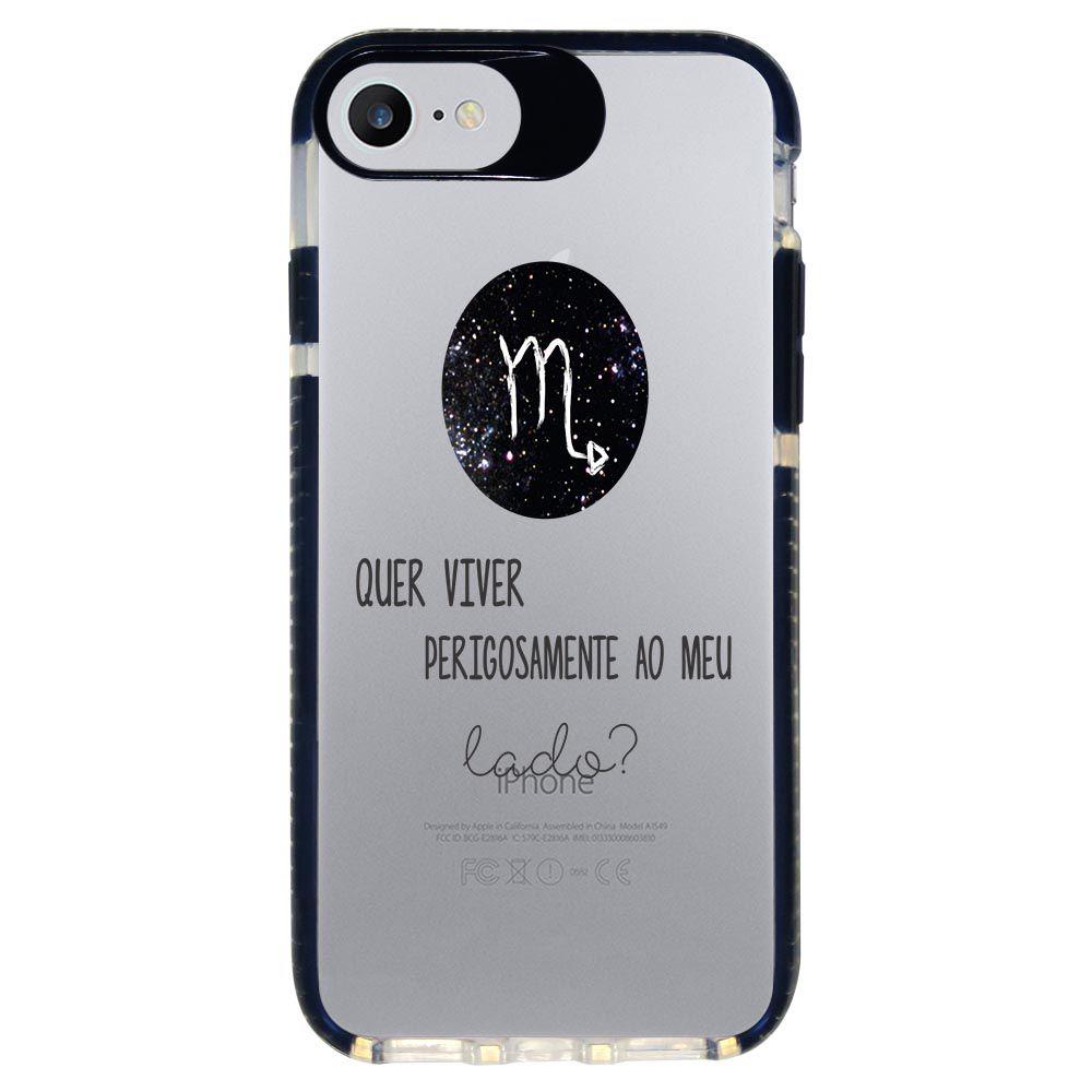 Capa Personalizada Intelimix Intelishock Preta Apple iPhone 7 - Signos - SN20