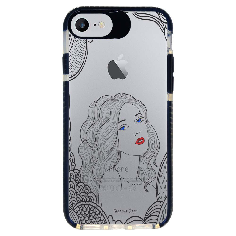 Capa Personalizada Intelimix Intelishock Preta Apple iPhone 7 - Style - TP266