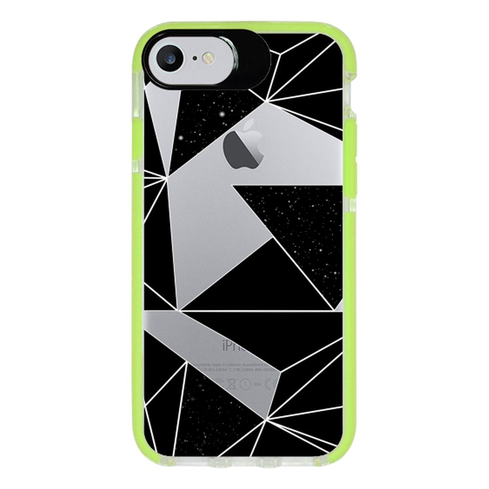 Capa Personalizada Intelimix Intelishock Verde Apple iPhone 7 - Abstrato - TP374