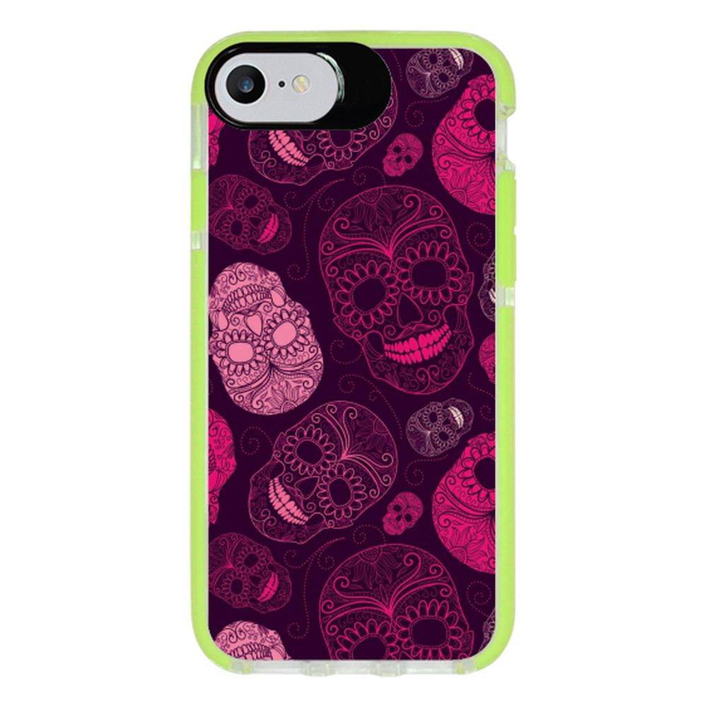 Capa Personalizada Intelimix Intelishock Verde Apple iPhone 7 - Caveira - CV11