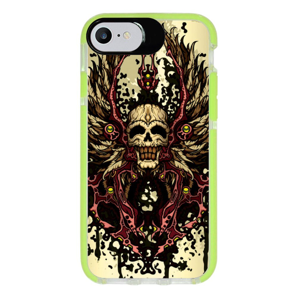 Capa Personalizada Intelimix Intelishock Verde Apple iPhone 7 - Caveira - CV14